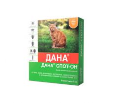 Дана капли СпотОн кошки более 3-х кг 2 ампулы *1 мл Apicena Россия 18194
