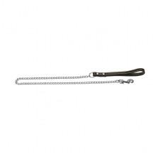 Поводок- цепь ручка из кожи 2 мм 110 см SHL2011