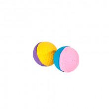 Игрушка для кошек Мяч зефирный для гольфа двухцветный 4,5 см в упаковке 25 шт BALL29