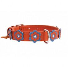 Ошейник Collar Glamour с апликацией 9 мм 18-21 см оранжевый 34994