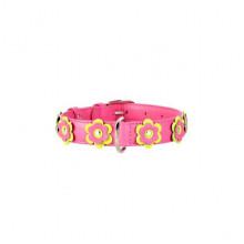 Ошейник Collar Glamour с апликацией 9 мм 18-21 см розовый 34997