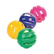 Игрушка для кошек Мячик пластиковый с бубенчиком 4 см 576 1552 NTC