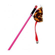 Игрушка для кошек Удочка с леопардовой мышкой 47 см 144 3496-NTC