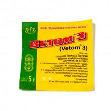 Ветом 3 Vetom 3 пробиотик для животных 5 г НПФ Исследовательский центр Россия - БИОПРЕПАРАТЫ