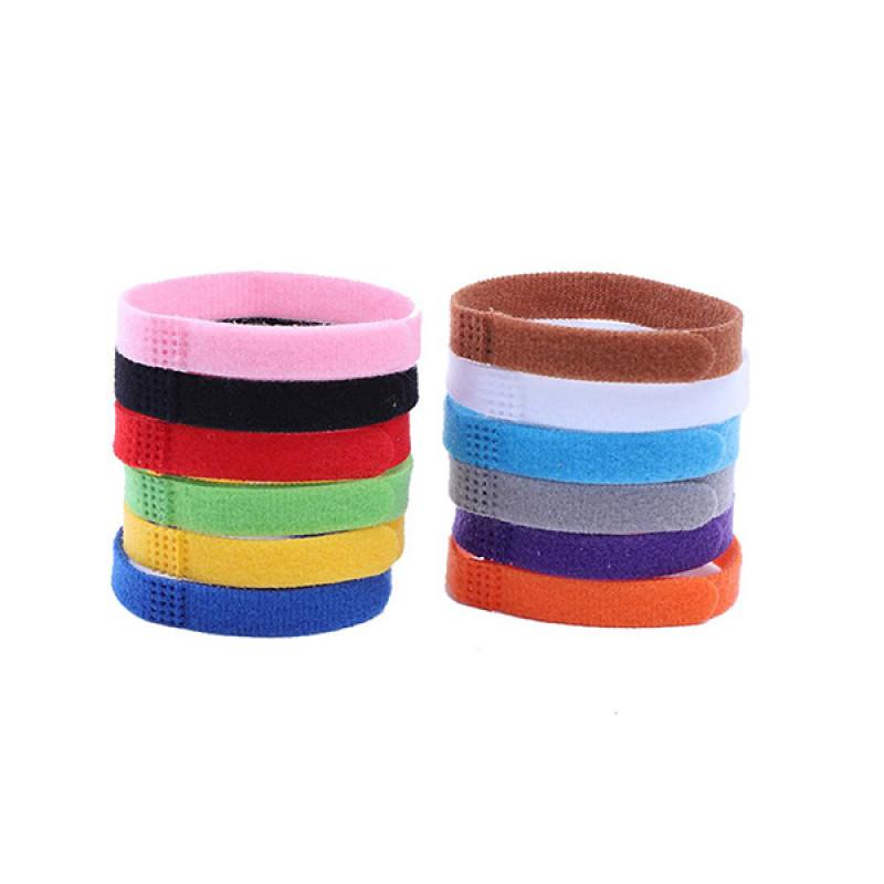 Ошейники разноцветные для кошек и собак на липучке S (комплект 12 шт 10*200 мм)