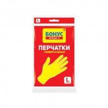 Перчатки резиновые БОНУС универсальные L