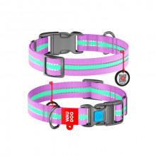 Ошейник WAUDOG Nylon светонакопительный фиолетовый 25 мм х 35-58см COLLAR 45659