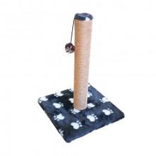 Когтеточка столбик на подставке джут с игрушкой 30*30*45 см мех с лапкой FOX S820-2L