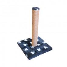 Когтеточка столбик на подставке джут с игрушкой 30*30*45см мех с лапкой FOX S820-1L