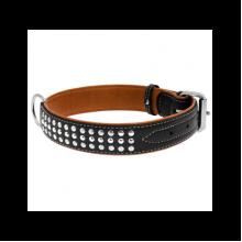 Ошейник Collar Soft с металлическими украшениями черный 35 мм 57-71см 7225