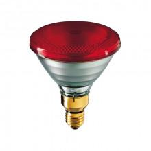 Лампа ИК 175 W 240 V LuxLight PAR38 твердое стекло красная Китай