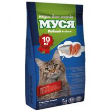 Корм для котов  МУСЯ со вкусом рыбы O.L.KAR 10 кг 18321