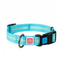 Ошейник WAUDOG Nylon светонакопительный голубой 25 мм х 31-49 см COLLAR 45642