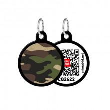 Адресник WAUDOG Smart ID с QR-паспортом Камо круг диаметр 25 мм черный 0625-0102-01
