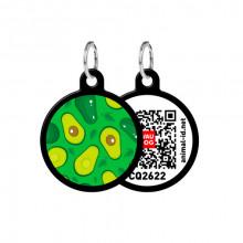 Адресник WAUDOG Smart ID с QR-паспортом Авокадо круг диаметр 25 мм черный 0625-0048-01
