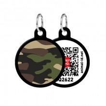 Адресник WAUDOG Smart ID с QR-паспортом Камо  круг диаметр 30 мм 0630-0102-17