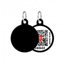 Адресник WAUDOG Smart ID с QR-паспортом  без рисунка круг диаметр 25 мм 0625-0000-17