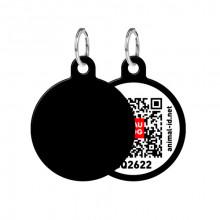 Адресник WAUDOG Smart ID с QR-паспортом  без рисунка круг диаметр 30 мм 0630-0000-17