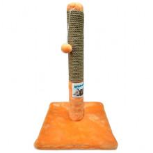 Когтеточка-столбик на подставке Пушистик рыжая 30*50 см  С-1