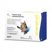 Стронгхолд (Stronghold) капли для котов от 2,6 до 7,5 кг от блох клещей Zoetis Pfizer