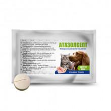 Атазолсепт №1 таблетки антигельминтные для собак на 20 кг Круг