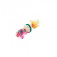 Когтеточка-шарик с перьями 8см FOX/ NT322