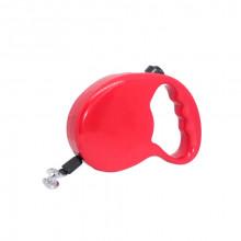 Поводок-рулетка FD1015-3М красная лента 3м*20 кг FOX FD1015-3M Red