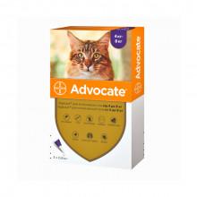 Адвокат №4 до 8 кг комплексные капли противопаразитарные для кошек Bayer - ИНСЕКТОАКАРИЦИДНЫЕ КАПЛИ