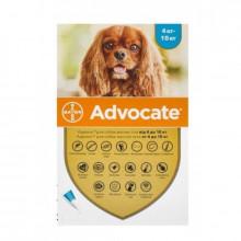 Адвокат №4 от 4 до 10 кг комплексные капли противопаразитарные для собак Bayer