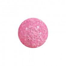 Игрушка для котов  мяч глицериновый розовый с бубенчиком 4 см FOX WT001-1