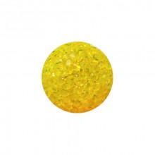 Игрушка для котов мяч глицериновый желтый с бубенчиком 4 см FOX XWT001-6