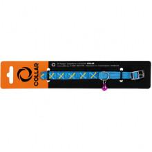 Ошейник нейлоновый Dog Extreme с рисунком Орнамент синий 10 мм 20-30см COLLAR 64412