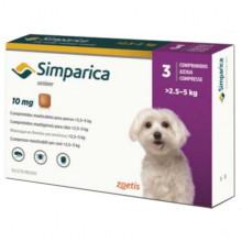 Симпарика  10 мг  3 таблетки  для собак 2,5-5 кг инсектоакарицидные - ИНСЕКТОАКАРИЦИДНЫЕ ТАБЛЕТКИ