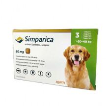 Симпарика 80 мг 3 таблетки  для собак 20-40 кг инсектоакарицидные - ИНСЕКТОАКАРИЦИДНЫЕ ТАБЛЕТКИ