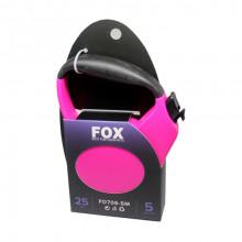 Поводок-рулетка FD706-5M розовая,лента 5м*25кг FOX/FD706-5M Pink