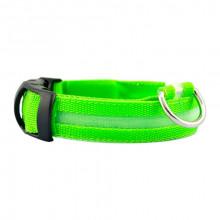 Ошейник декоративный светодиодный L 48-60 см 2,5 см зеленый FOX LED-L-GREEN