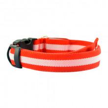 Ошейник декоративный светодиодный L 48-60 см 2,5 см красный FOX LED-L-RED