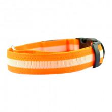 Ошейник декоративный светодиодный L 48-60 см 2,5 см оранжевый FOX LED-L-ORANGE