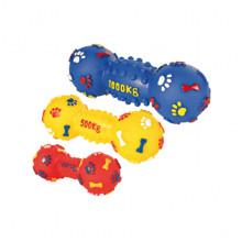 Игрушка гантель лапки и косточки 16х6 см для собак 012DA/2