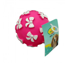 Игрушка Мяч-бантик виниловый d 7,5 см 021DI для собак