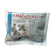 Альбендазол 10% 100 г порошок антигельминтный УКРВЕТБИОФАРМ