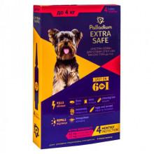 Палладиум капли Extra Safe аналог золотая защита для собак до 4 кг от блох и гельминтов *4