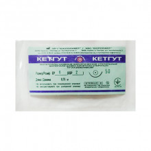 Кетгут стерильная нить, шовный материал 75см EP6-USP2 №6  Пакет Биополимер  8239