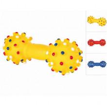 Гантеля резиновая цветная с шипами 19-25 70 г для собак - ИГРУШКИ