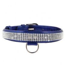 Ошейник Collar brilliance с отделкой из страз ширина 9 мм длина 19-25см синий - ОШЕЙНИКИ, АМУНИЦИЯ