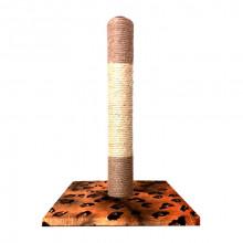 Когтеточка-столбик Wild Cat с мышкой на подставке квадрат сизаль 30*30*45 см FOX S822