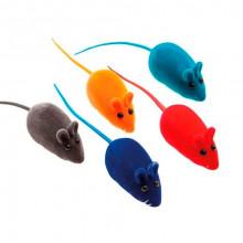 Игрушка для кошек Мышь велюр цветная 6,5 см FOX NT001