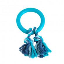 Игрушка д/соб из литой резины кольцо с 2 цв. верев. 11см FOX/BW215
