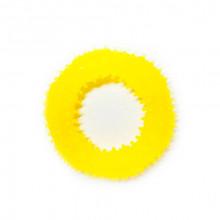 Игрушка для собак Кольцо с шипами желтое с запахом ванили 12 см FOX TF-022