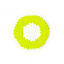 Игрушка для собак Кольцо с шипами желтое с запахом ванили 9 см FOX TF-017